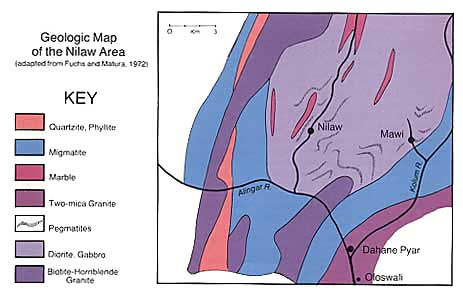 Geologic map of the Nilaw area, Nuristan, Afghanistan
