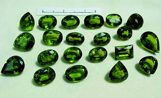 Cut Peridot photo image