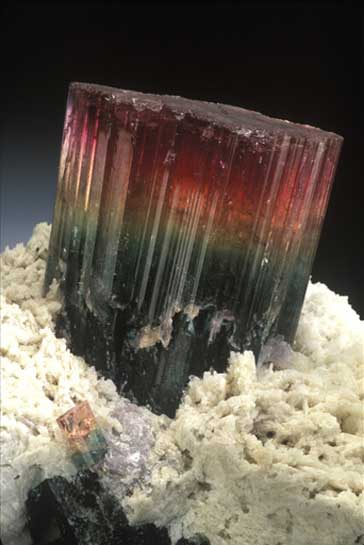 Tricolor Tourmaline photo image