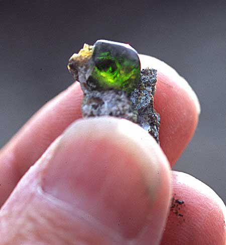 Demantoid Garnet in Matrix photo image