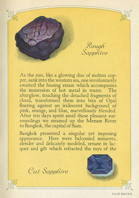 Rought and Cut Sapphire illustration image