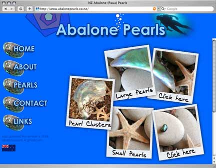 Abalone Pearls Website photo image