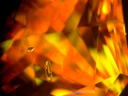 Yellow Synthetic Diamond photomicrograph image