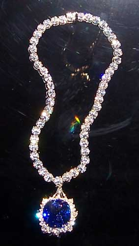 Sapphire and Diamond Necklace photo image
