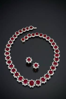 Ruby and Diamond Necklace photo image
