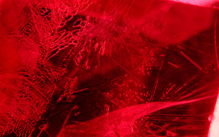 Ruby photomicrograph image