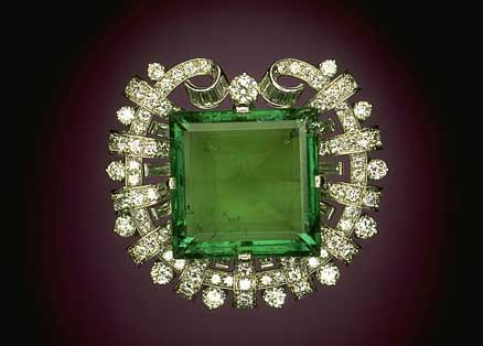 Hooker Emerald Brooch photo image