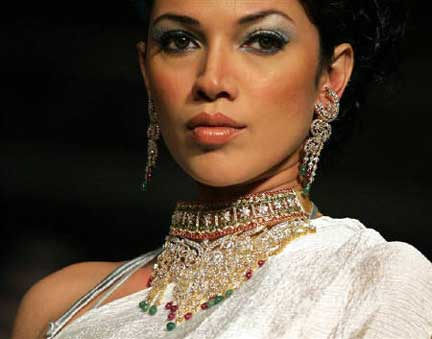 Jewelry Modeled in New Delhi photo image
