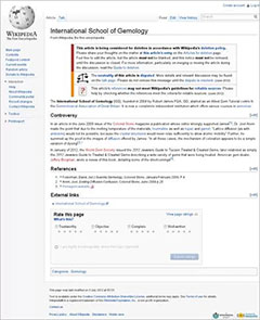 Wikipedia entry image
