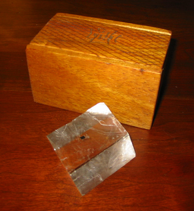 Calcite Rhomb and Carved Box photo image