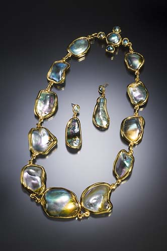 Abalone Pearl Necklace photo image