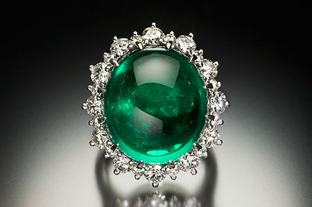 Emerald and Diamond Ring/Pendant photo image