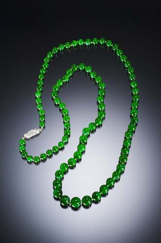 Jadeite necklace photo image