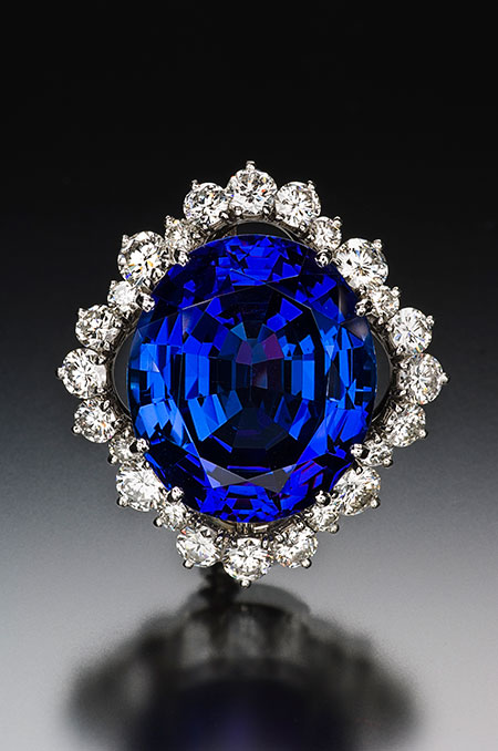 Tanzanite and Diamond Brooch photo image