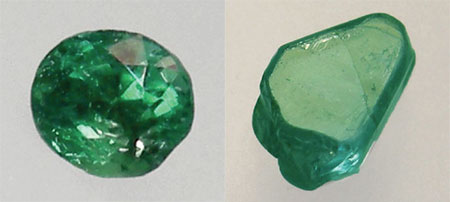 Cut and Rough Chrysoberyl photo images