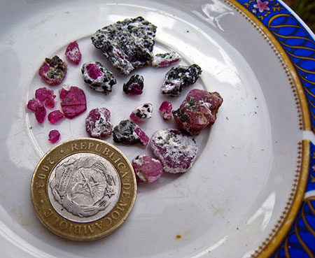Ruby Rough and Coin photo image