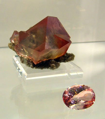 Fluorite Crystal and Faceted photo image