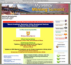 Mining Summit web shot