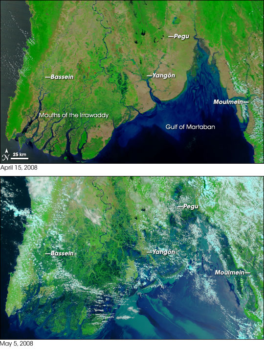 Burma Satellite photo images