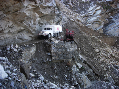 Pakistan Earthquake Aid Vehicle photo image