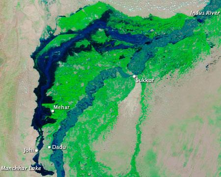 Sindh satellite image