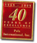 1969-2009 - 40 Years of Excellence - Pala International, Inc. foil image