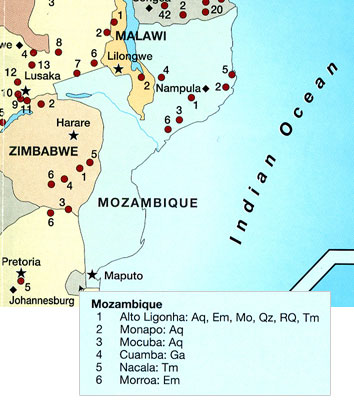 Mozambique Map image