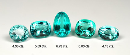 Heated Cuprian Tourmaline Suite photo image