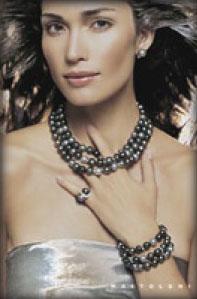 Woman Wearing Pearls photo image