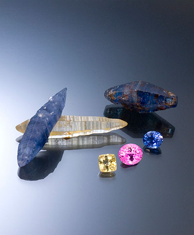 Ceylon Sapphire Crystals and Gemstones photo image