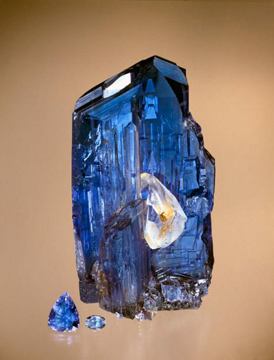 Tanzanite Rough & Cut photo image