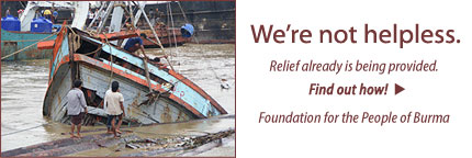 Burma Cyclone Relief banner image