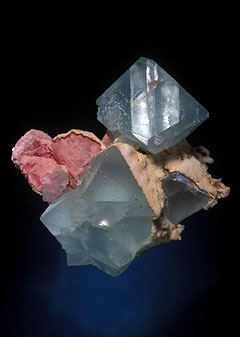 Fluorite-Rhodochrosite Crystal photo image