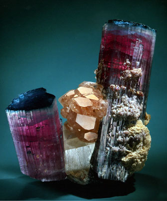 Blue-Cap Tourmaline Specimen photo image