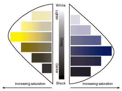 Tone and Saturation chart image