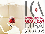 ICA International Gem Show Dubai 2008 logo image