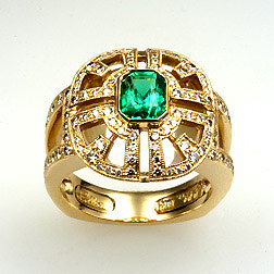 Natural Emerald Ring photo image