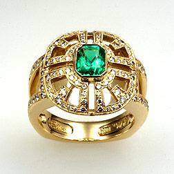 Natural Emerald Ring photo image